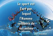 Citations / Sélection de citations sur le parachutisme et sur le sport en général.