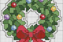 Navidad Punto Cruz
