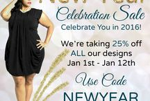 New Year's Sale!! / Bringing in the New Year with our 25% any dress sale!