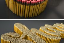 Object Typography / Everyday items that are arranged to make type faces