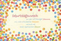 Geburtstagswünsche & Co