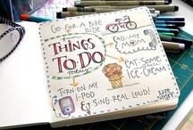 art journal, doodling