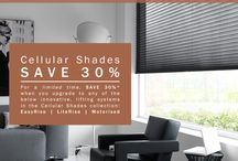 Sunway Offer / SAVE 30%* on Sunway cellular shades for a limited time when you upgrade to any of the following innovative, lifting systems in the Cellular Shades collection: EasyRise | LiteRise | Motorised.