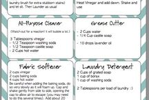 Cleaning / Homemade some with essential oils and dawn White vinegar ect....