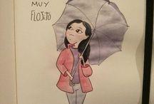 Un dibujo para cada día - Silvia Mollat / Cada día ocurre algo especial que se puede dibujar...