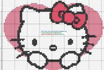 Hello Kitty / Punto De Cruz