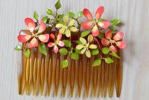 Flores alpaca esmaltada