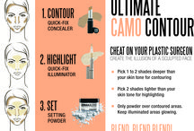 Camo Contour / Create the illusion of a scultped face and scultped body with Dermablend Professional's products, tips and tricks.