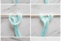 Wall yarn hanging