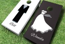 Wedding Cornhole Boards / This is the perfect addition to your big wedding day. Customized just for you, and your guests will have such a great time with them at your reception.
