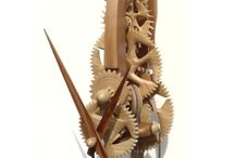 Wooden Clocks / Wooden geared clocks and DIY plans