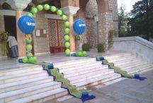 Μπαλόνια  για  βάπτιση λουλούδια. / Μπαλόνια  για  βάπτιση  αερόστατα.  www.mpalonia.gr