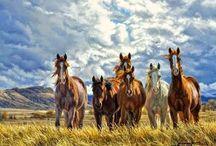 Cuadros caballo sala
