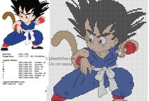Dragon Ball anime manga free cross stitch patterns / Dragon Ball anime manga free cross stitch patterns