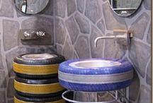 DECORAZIONE DIY CON PNEUMATICI / Idee di basso costo che puoi fare decorando la tua casa con pneumatici riciclati.