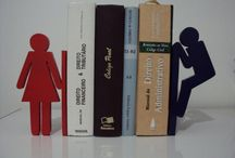 Aparador de livros / http://www.decorarepreciso.com.br/blog/aparador-de-livros-divertidos/