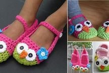 DIY Crocheted Owl Slippers