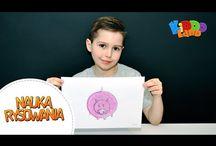 Nauka rysowania dla dzieci / Zobacz jak w łatwy sposób, krok po kroku, nauczyć się rysować.