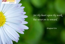 Inspiring spiritual Quotes / This section introduces you to a wide range of spiritual quotes by famous personalities and quotes from the bhagawata Purana has also been stated in this section.