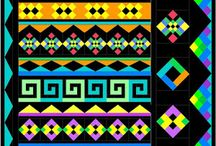 """Seminole Sampler / Collaboration board to those doing Morning Glory Designs """"Seminole Sampler"""" 2016 Block of the Month"""