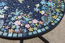 jídelní stůl - mozaika