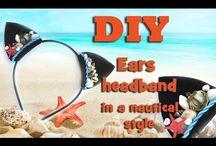 Ободки / Headband / Ободки из атласных лент. Видео мастер классы