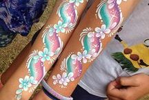 hand face paining for kids