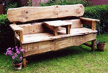 rustic outdoor furniture / by Kerri Fitzpatrick