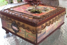 Cigar boxes, upcycled / by Marilyn Rhetts