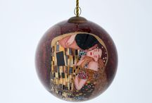 Hand Painted Glass Ornaments / Famous art themed glass ornaments - Hand painted from the inside!