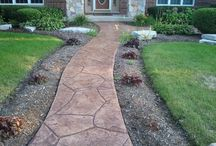 Driveways & Sidewalks / Increase the value of your home with these concrete stamping ideas.
