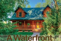 Waterfront Log Homes / Explore waterfront log homes and cabins here.