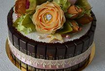 návod kvety-torta