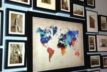 foto lijsten rond wereldkaart