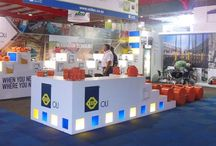 Exhibition stands / Custom and Octonorm system exhibition stands, designed & manufactured by Dzines.