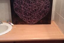 My project / DIY nail and string art