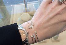 Bracelets / A board of fun bracelets like bangles, tennis, diamond, color and stacking!
