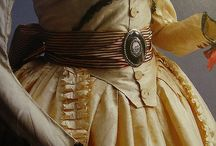 1780's zone front gown