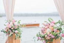 { Peach } Wedding Florals