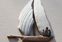 drift wood and stone