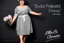 2015 - New Season : Mature, Elegant, Classic / Vintage Dress & Tops which specially designed for sophisticated curvy women originally made by Indonesian Designer & Local Brand: Ella Es Bonita.