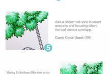 Copic pens / Ideas