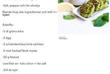 Middagar / Samling av lunch- och middagsrecept