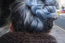 Blue gray hair ideas / Blue gray long hair ideas