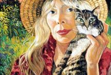 SIQUOMB & her Tigers / Joni Mitchell and cats.