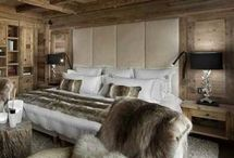 Ski chalet bedroom