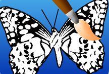 Kelebek boyama oyunları,boyama oyunları