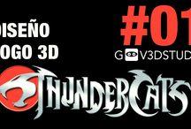 3ds Max Diseño Logo Thundercats