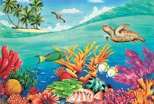 Fish murals