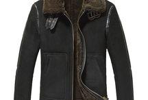 Sheepskin Shearling Bomber Jacket / Sheepskin bomber jacket, Sheepskin B-3 jacket, shearling aviator jacket, Shearling Flight Jackets. CWMALLS offer custom made and Personal Tailor.